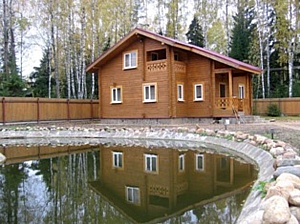 Строительство деревянного дома из клееного бруса , строительство коттеджей и домов, дачных домов.